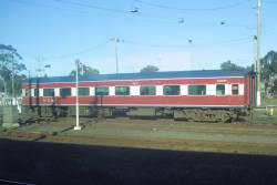 BZN265 stabled in the carriage yards at Geelong