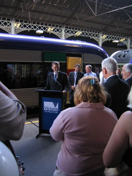 Victorian Transport Minister Peter Batchelor making a speech at the Launch Ceremony