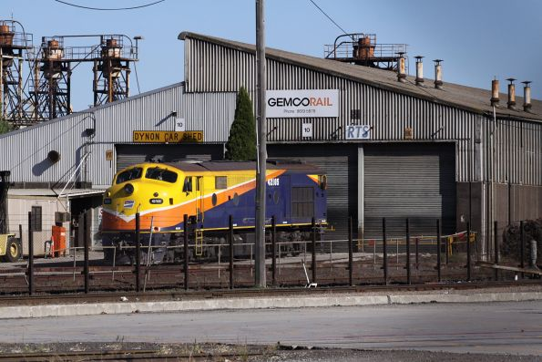 Interail liveried 42105 stabled at the Gemco shed at South Dynon