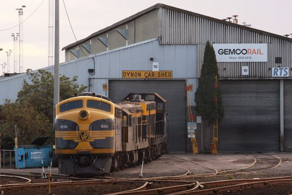 B74, T341 and T357 stabled outside the RTS shed at South Dynon