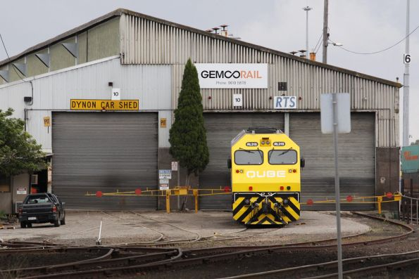 RL310 outside the Gemco shed at South Dynon, awaiting repairs