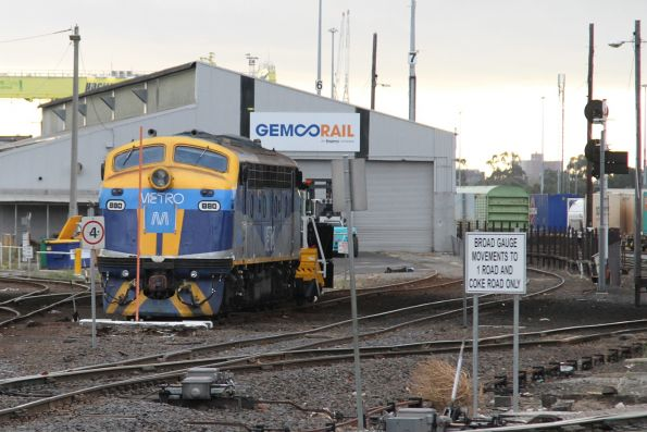 B80 stabled outside the Gemco shed at South Dynon