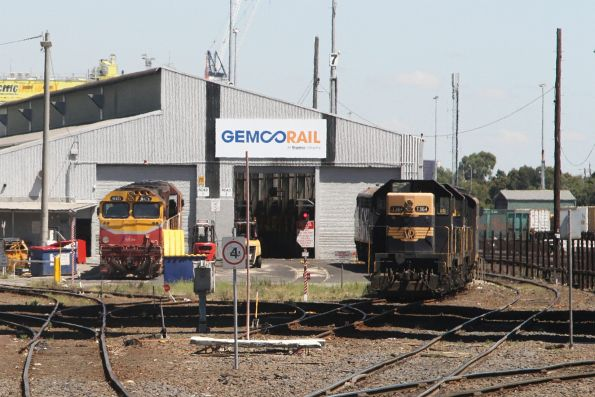 N471, T364, T395, S313, B74 and B80 outside the Gemco sheds at South Dynon