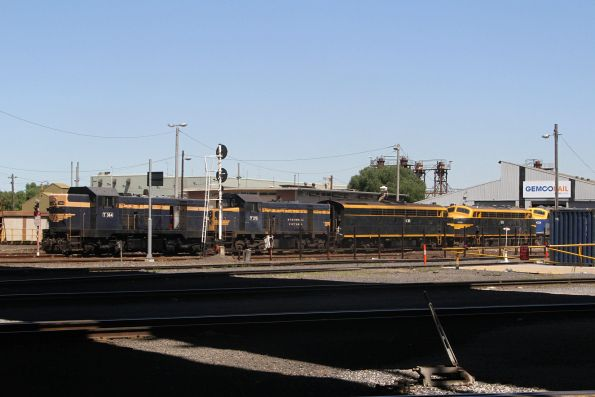 T364, T395, S313, B74 and B80 outside the Gemco sheds at South Dynon