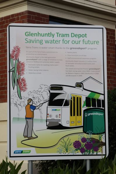 'Greendepot' sign outside Glenhuntly Depot