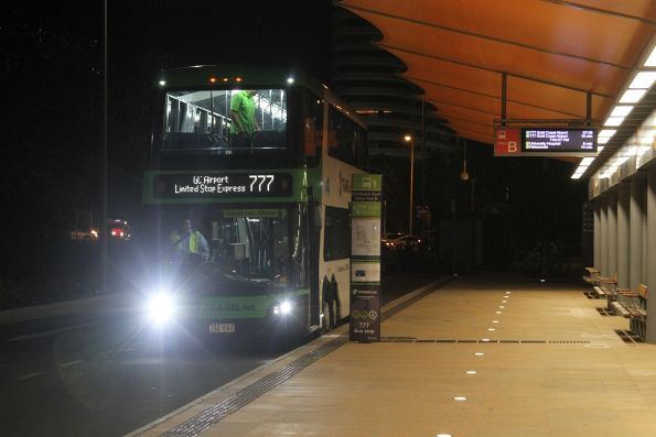 Surfside bus 702VAX ready to depart Broadbeach South with a route 777 service