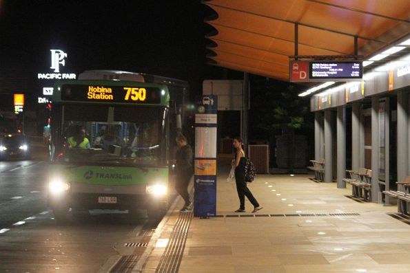Surfside bus 768LQQ ready to depart Broadbeach South with a route 750 service