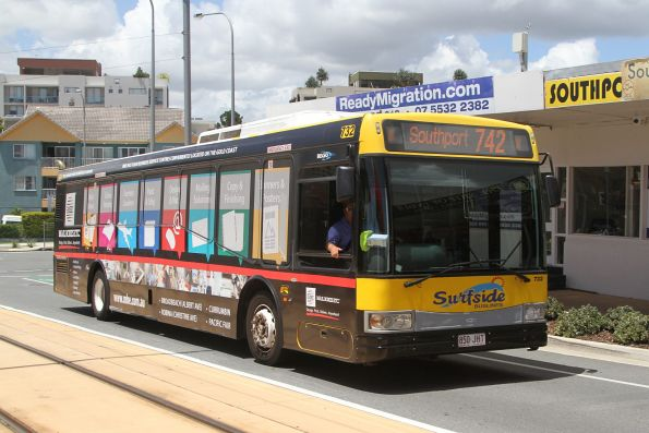 Surfside bus #732 850JHT on route 742 at Southport South