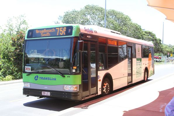 Surfside bus #474 788LEI on route 756 at Broadbeach South