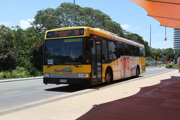 Surfside bus #617 617IIE on route 705 at Broadbeach South