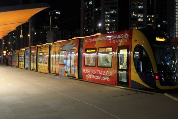 2018 Commonwealth Games livery on the side of Flexity #10