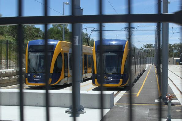 Flexity #08 and #06 stabled at the light rail depot