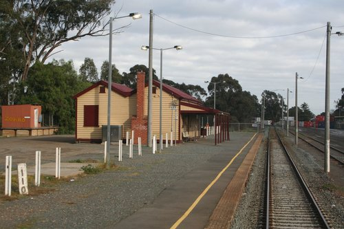 Timber station building at Mooroopna