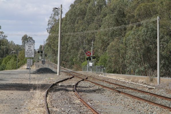 Down end of the yard at Mooroopna station