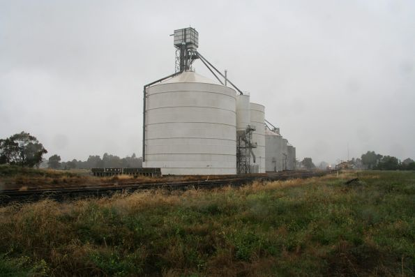 Silos at the down end of Murchison East