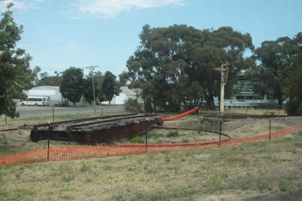 Fenced off turntable at Numurkah