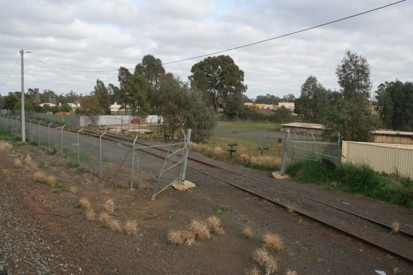 Former oil sidings at the south end of Shepparton yard