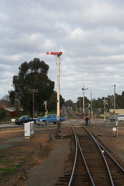 Home signal for up trains departing Shepparton