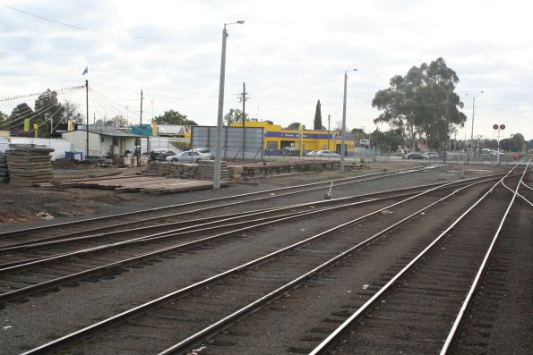 Down end of the yard at Shepparton