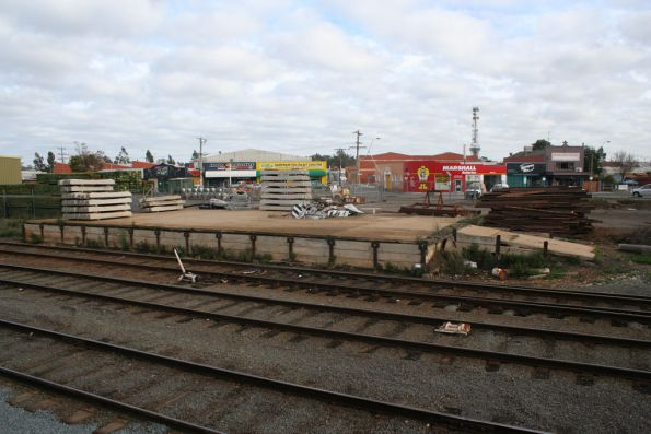 Goods platform in the yard at Shepparton