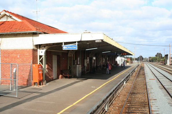 Station platform at Shepparton