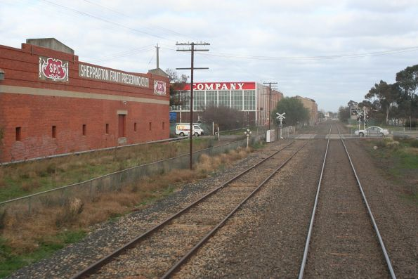 SPC factory beside the railway line at Shepparton