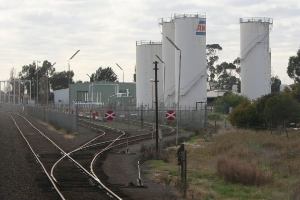Up end points at the Shepparton oil sidings