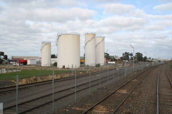 Ampol oil terminal to the north of Shepparton