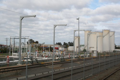 Shell oil terminal to the north of Shepparton