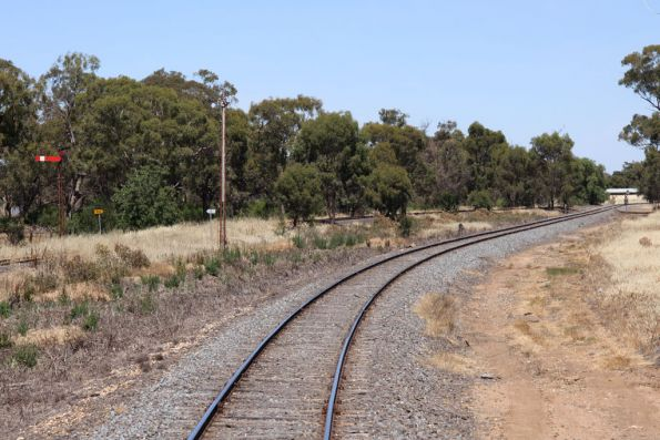 Junction of the Tocumwal and Cobram lines at Strathmerton, looking up
