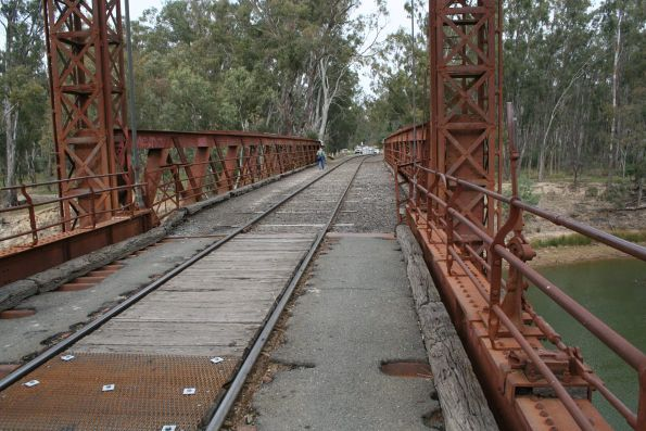 Lifting span in the centre of the Tocumwal road/rail bridge