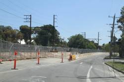 Works underway on the north-eastern side of Grange Road