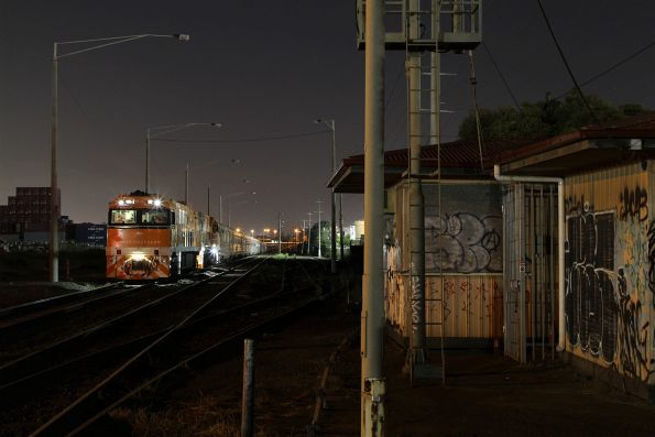 Crew change in Melbourne's western suburb of Brooklyn for the northbound Great Southern service
