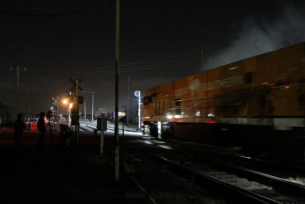 NR30 and NR31 power away from Brooklyn after a late night crew change