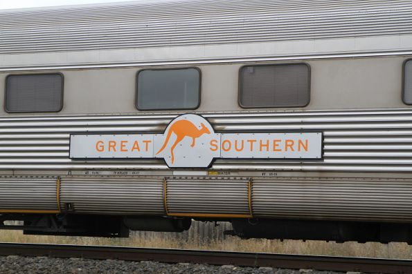 'Great Southern' nameplate on the side of a carriage