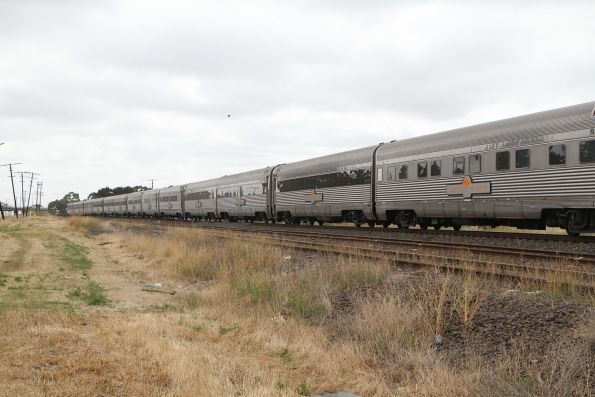 Rear half of the train - platinum class sleepers