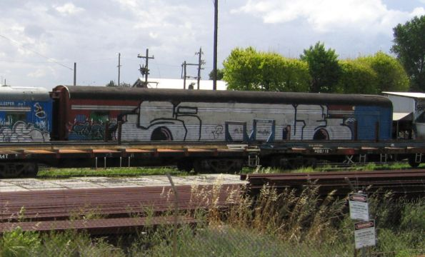 Ex-Overland carriages, formerly owned by WCR, stored at Spotswood