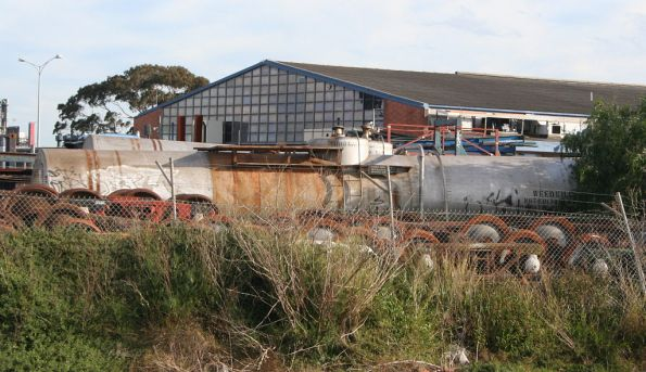 Pair of Weedex tanks grounded in the El Zorro compound at South Dynon