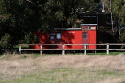 Guards van 709 ZL in private ownership, located in Newham at -37.322513,144.591005