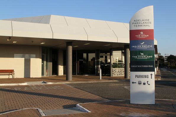 Entrance to Adelaide Parklands Terminal