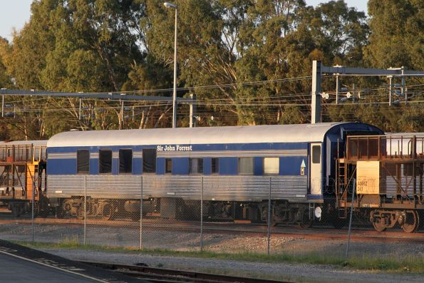 'Sir John Forrest' carriage stored at Adelaide Parklands Terminal