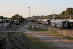 Stored carriages at the Adelaide Parklands Terminal