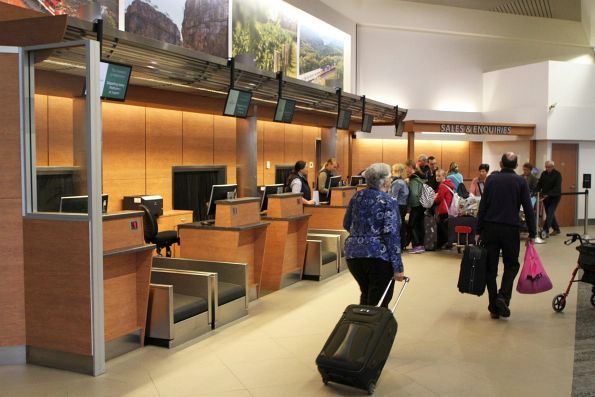Check-in counters at Adelaide Parklands Terminal