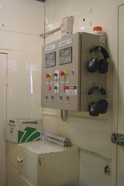 Control panel for the twin gensets in power van PCO4