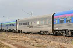 Indian Pacific buffet car CDF929F replacing the usual RBJ car on The Overland