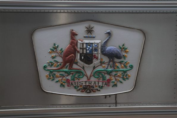 Commonwealth of Australia coat of arms on 'Special Service' carriage SSA260
