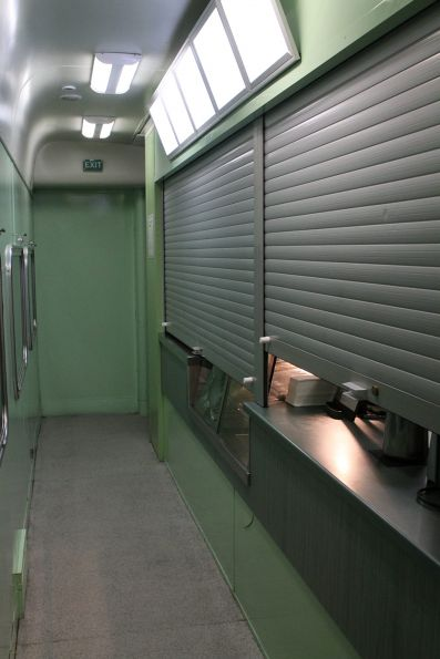 Serving area onboard a CDF cafe carriage