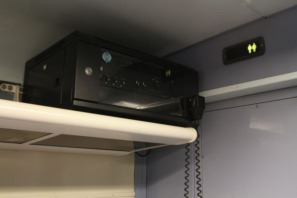 PA system onboard a BJ sitting carriage on The Overland