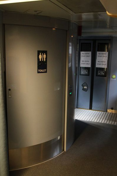 Disabled toilet onboard a BJ sitting carriage on The Overland