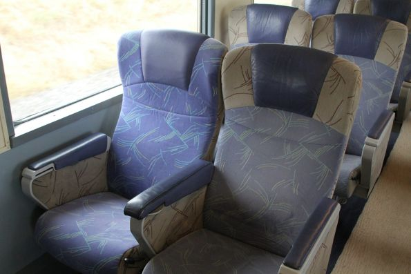 One mismatched seat onboard a BJ sitting carriage